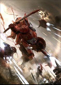 Empire Tau, Tau Army, Dc Comics, Warhammer 40k Art, Warhammer Models, Warhammer Fantasy, Far Future, Marvel, The Grim