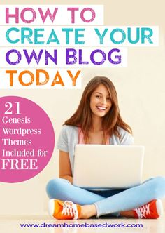 Interested in Starting A Blog? If you aspire to work from home or make a side income blogging, check out this amazing step-by-step guide - 21 FREE Wordpress themes included!