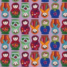 topsy turvy matryoshka fabric by scrummy on Spoonflower - custom fabric
