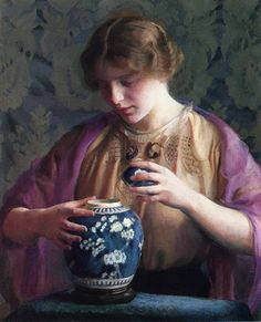 The Oriental Jar  William MacGregor Paxton ॐ}*{ॐ