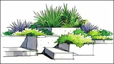 garden drawing We brings you spectacular examples of garden plans from homes around the world. -- Learn more by visiting the image link. Landscape Architecture Drawing, Landscape Model, Landscape Design Plans, Landscape Sketch, Garden Design Plans, Landscape Drawings, Urban Landscape, Computer Architecture, Architecture Plan