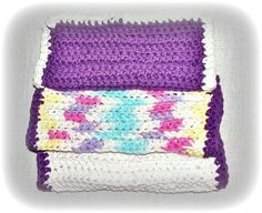 Cotton Crochet Wash Cloths Face Cloths by FosterChildWhimsy
