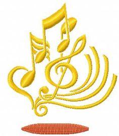 treble clef free machine embroidery design 6. Machine embroidery design. www.embroideres.com