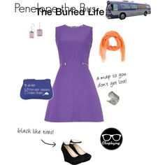 Penelope the Bus - The Buried Life by closplaying on Polyvore featuring Sportmax, Bamboo, Designhype, Blue Nile and Arte Cashmere