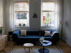 Image detail for -... Room With Blue Couch Ideas for Transitional Room With Blue Couch