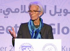 The head of the International Monetary Fund, Christine Lagarde, delivers a speech during the international conference on Islamic finance, in Kuwait City on November 11, 2015.  (YASSER AL-ZAYYAT/AFP/Getty Images)