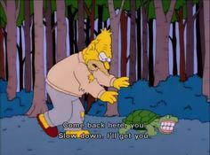 Grandpa Simpson.  The Simpsons