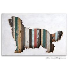 Bearded Collie acrylic, salvaged wood and found objects All breeds available upon request.