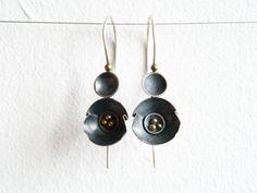 earrings by Agnieszka Krawczyk; oxidised silver