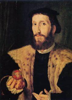 Retrato del humanista español Alfonso de Valdés (c. 1490-1532) de Jan Cornelisz Vermeyen (1500-1559)