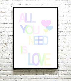 Supersøt plakat, som passer perfekt på barnerommet. All You Need Is Love, I Shop, Calm, Frame, Artwork, Picture Frame, Work Of Art, Auguste Rodin Artwork, Artworks
