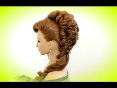 "Hairstyle for long hair with twist braid. Вечерняя прическа с плетением косы ""жгут"". - YouTube"