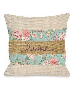 One Bella Casa Home Floral Burlap Fleece Throw Pillow Burlap Throw Pillows, Cute Pillows, Floral Throw Pillows, Outdoor Throw Pillows, Throw Pillow Covers, Decorative Pillows, Applique Pillows, Handmade Pillow Covers, Patchwork Pillow