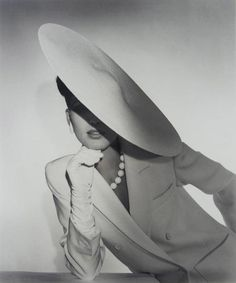 Horst P. Horst picture of a profile hat...hat style now back IN STYLE!  Find yours at HAT-A-TUDE.COM