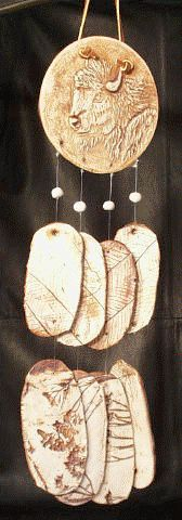 BUFFALO HEAD WIND CHIME
