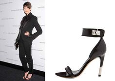Anne Hathaway wearing Givenchy sandals