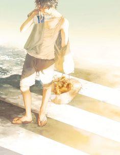 [ across the light - Re°'s illustrations - pixiv Arte Indie, Indie Art, Manga Art, Anime Manga, Anime Guys, Vampire Boy, Emotional Photography, Character Design Animation, Anime Artwork