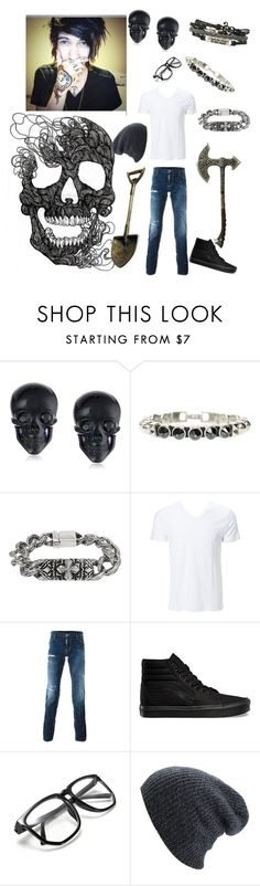 """""""RTD- Leion Johnsen"""" by jayisdarkness ❤ liked on Polyvore featuring Tarina Tarantino, HEET, Inox, Dsquared2 and Vans"""