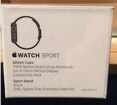 New Apple Watch, Apple Watch 42mm, Retina Display, Black Stainless Steel, Sport Watches, Sporty Watch
