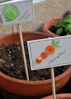 Summer Activities Garden theme ideas for kids: 25 garden marker ideas for kids to make