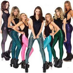 2017 New Fashion Trousers Top Sale Black Milk Digital Print Women Mermaid Leggings XS S M L XL XXL  #Affiliate