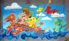 Where Wild Things Roam, chalk mural, Jen Swain, winner best animation Chalk Drawings, Cool Animations, Wild Things, Chalk Painting