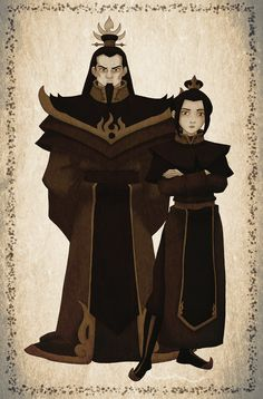 Fire Lord Ozai and Princess Azula. Family Portrait by ~Azulera on deviantART