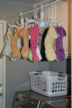 Millions of Fingerprints: Cloth Diapers: DIY Indoor Drying Rack