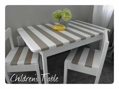 IKEA Children's table hack ... Have this table, so need to paint it!