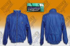 PATAGONIA Fleece Nylon JACKET size XL Electric Blue 80 s Vintage made in CANADA Mens Leisure Wear, Patagonia Fleece, Electric Blue, Rain Jacket, Windbreaker, How To Make, How To Wear, Android, Canada