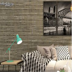 43.52$  Watch now - http://ali77t.shopchina.info/1/go.php?t=32769420511 - beibehang Environmentally friendly non - woven plain plain wallpapers simple modern bedroom living room TV background wallpaper  #magazine