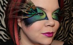 The fantastic Cora from Vintage or Tacky with another video tutorial. Peacock! Yes, this is costume makeup, not for picking your kids up from school.