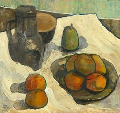 Anne Estelle Rice Still Life with Fruit and Pitcher Late 19th -... - still life quick heart