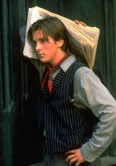 Young Christian Bale as Jack Kelly (Newsies)