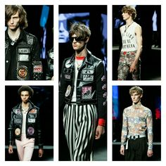 @Topman goes retro punk at  London Collections: MEN | SS16  pic by #Robertbinder  #TopmanDesign #menswear #mensblog #mensaccessories #dapper #gq #complex #hypebeast #urban #bespoke #mensfashionpost #mensfashionblog #punkrockfashion #londoncollectionmen2016 #runwayhair #runwaytrends #mensjackets2016  #mensstyle #mensouterweartrends  #londonfashiontrends2016  #mensfashiontrends2016
