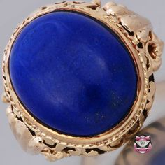 Antique Victorian Mens Lapis Lazuli Ring