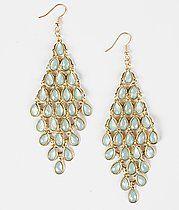 $6.00 6/15/15 BuckleDaytrip Teardrop Stone Earring