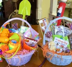 7 Themed Easter Basket Ideas with less sugar