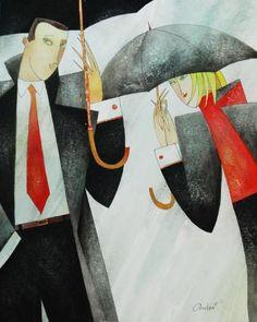 Andrei Protsouk Umbrella Art, Under My Umbrella, Walking In The Rain, Singing In The Rain, Art Stand, Parasols, Art Walk, Art Forms, Les Oeuvres