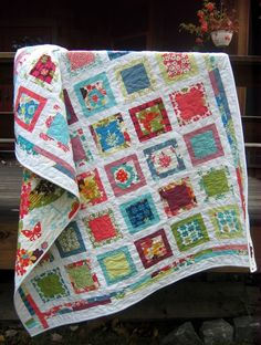Around the Block QUILT PATTERN.... Easy...one LAYER CAKE, PDF available. $9.00, via Etsy.
