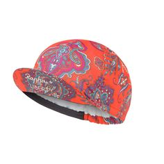 Rapha + Liberty limited edition print cycling cap Lady Paisley Red Orange #Rapha