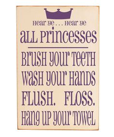 Princess girls bathroom - When I have little girls, I'm putting this up for them.  I may even put one up for myself right now . . .