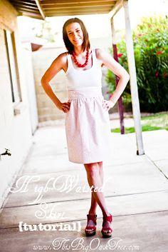 high-waisted skirt {tutorial}