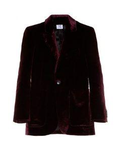 Patch-pocket velvet blazer   Vetements   MATCHESFASHION.COM UK
