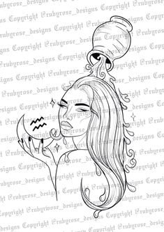 Aquarius Tattoo, Aquarius Zodiac, Aquarius Art, Tattoos For Women Half Sleeve, Pinturas Disney, Zodiac Tattoos, Spine Tattoos, Aesthetic Tattoo, Tattoo Flash Art