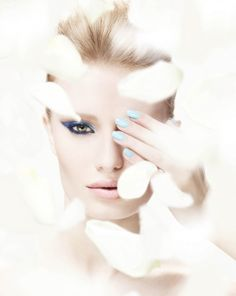 Playing peekaboo in blue...Space NK Apothecary 2013 beauty