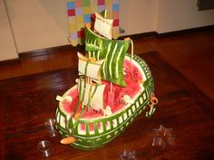 Fruit Carving GALEONE-VASCELLO 005 by sergio albani, via Flickr