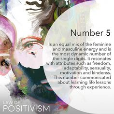 Number 5 symbolizes curiosity, freedom and change, and represents the five senses of humanity. 5 is the pivotal point between the numbers 1 to 9. The 5 represents a variety of experiences through its developed senses, and offers many opportunities for decisions for the future. There is constant activity and curiosity about life for the 5 vibration🌸 #5 #five #numerology #numbers #freedom #lawofpositivism #meditation #dailyaffirmations #astrology #numerology #111 #1111 #444 #222 #mindful