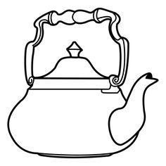 BAUZINHO DA WEB - BAÚ DA WEB Desenhos para colorir pintar e Atividades Escolares: Desenhos de chaleira para colorir, pintar, imprimir - chaleira para pintar - chá, café cliparts objetos de cozinha colorir
