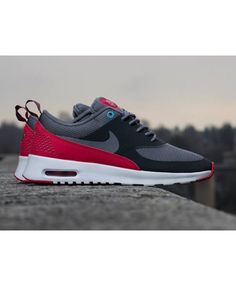 Nike Air Max Thea Anthracite Cool Grey Legend Red Polarized Blue Trainer